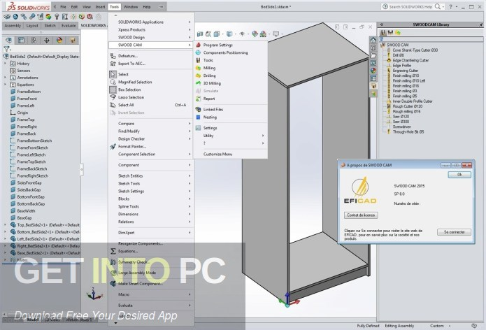 EFICAD SWOOD 2020 for SOLIDWORKS Direect Link Download