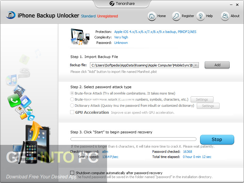 Tenorshare iPhone Backup Unlocker Direct Link Download-GetintoPC.com