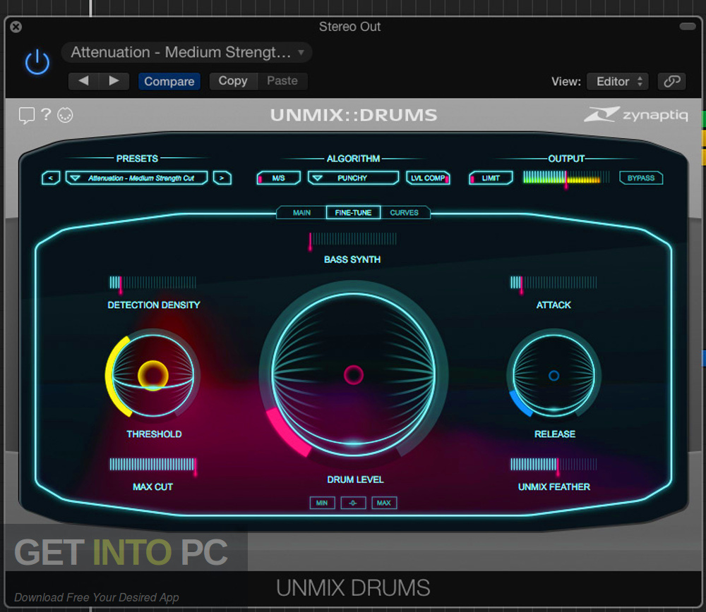 Zynaptiq - UNMIX DRUMS VST Direct Link Download-GetintoPC.com