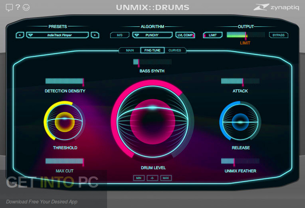 Zynaptiq - UNMIX DRUMS VST Latest Version Download-GetintoPC.com