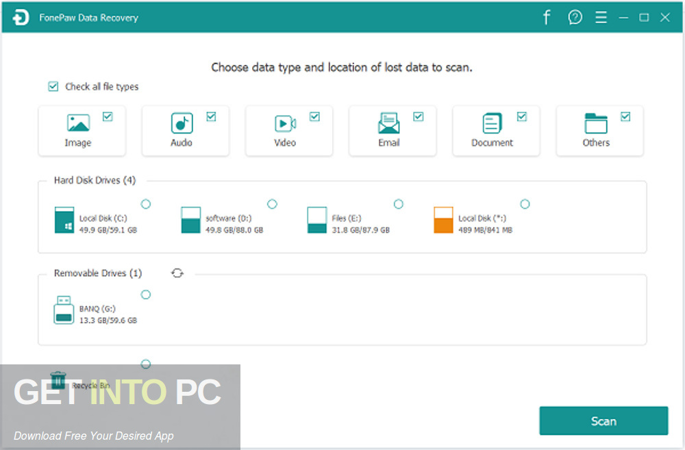 FonePaw Data Recovery Offline Installer Download-GetintoPC.com