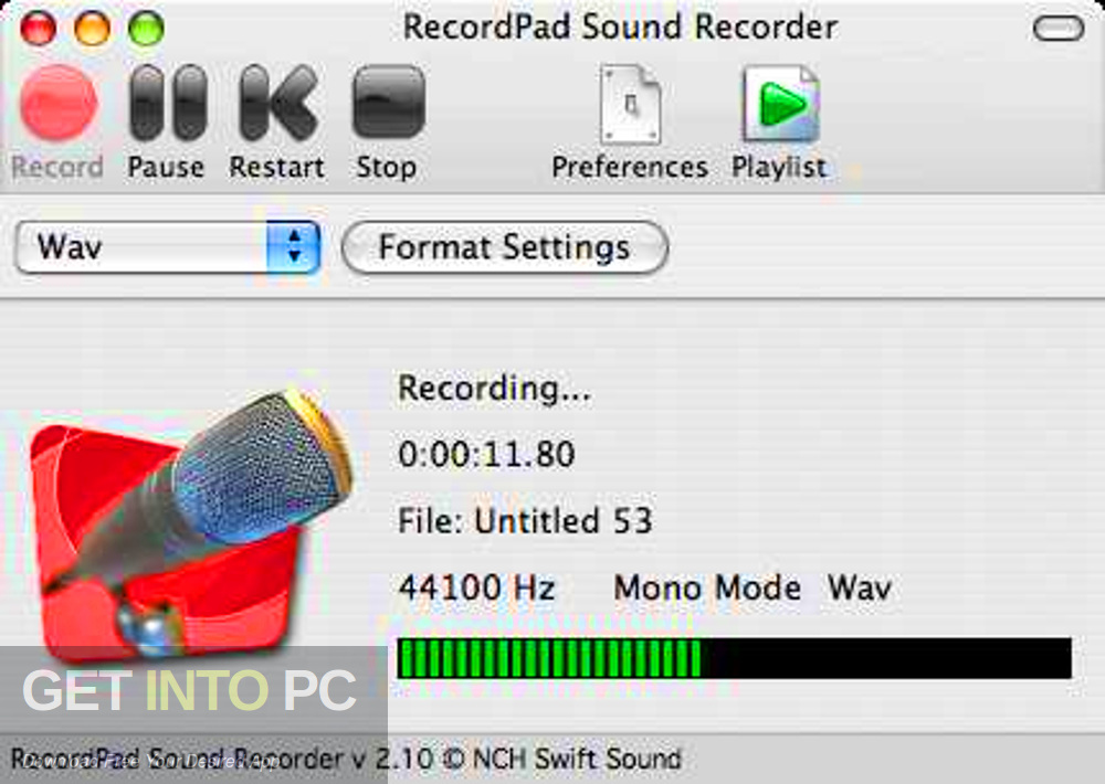 RecordPad Sound Recorder Latest Version Download-GetintoPC.com