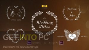 VideoHive Wedding Titles for After Effects Premiere Pro Direct Link Download-GetintoPC.com