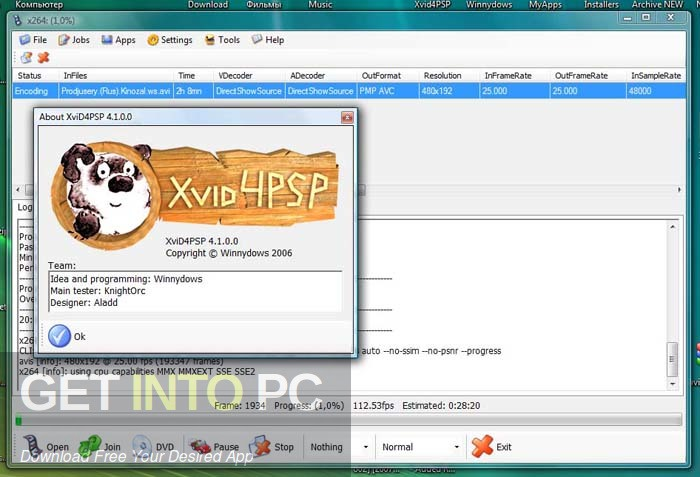 XviD4PSP Offline Installer Download