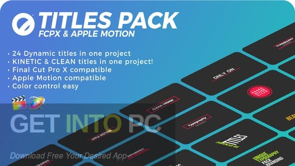 VideoHive The Ultimate Titles Pack - Final Cut Pro X & Apple Motion Latest Version download