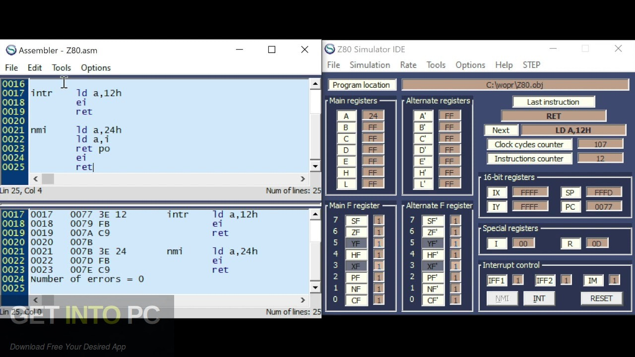 Z80 Simulator IDE Offline Installer Download