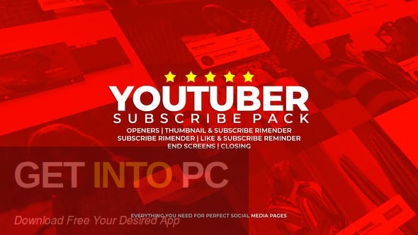 VideoHive Youtube Subscribe Like Follow Reminder Offline Installer Download