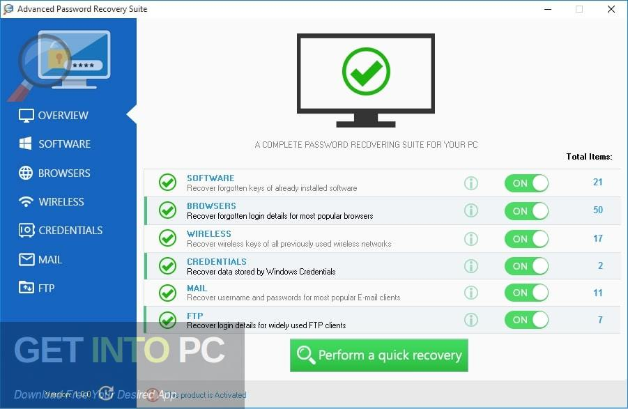 Advanced Password Recovery Suite Offline Installer Download