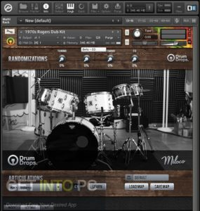 Drumdrops 1970s Rogers Big R Dub Kit (KONTAKT) Free Download-GetintoPC.com