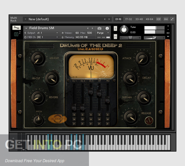 Auddict - Drums of the Deep II UNLEASHED (KONTAKT) Latest Version Download