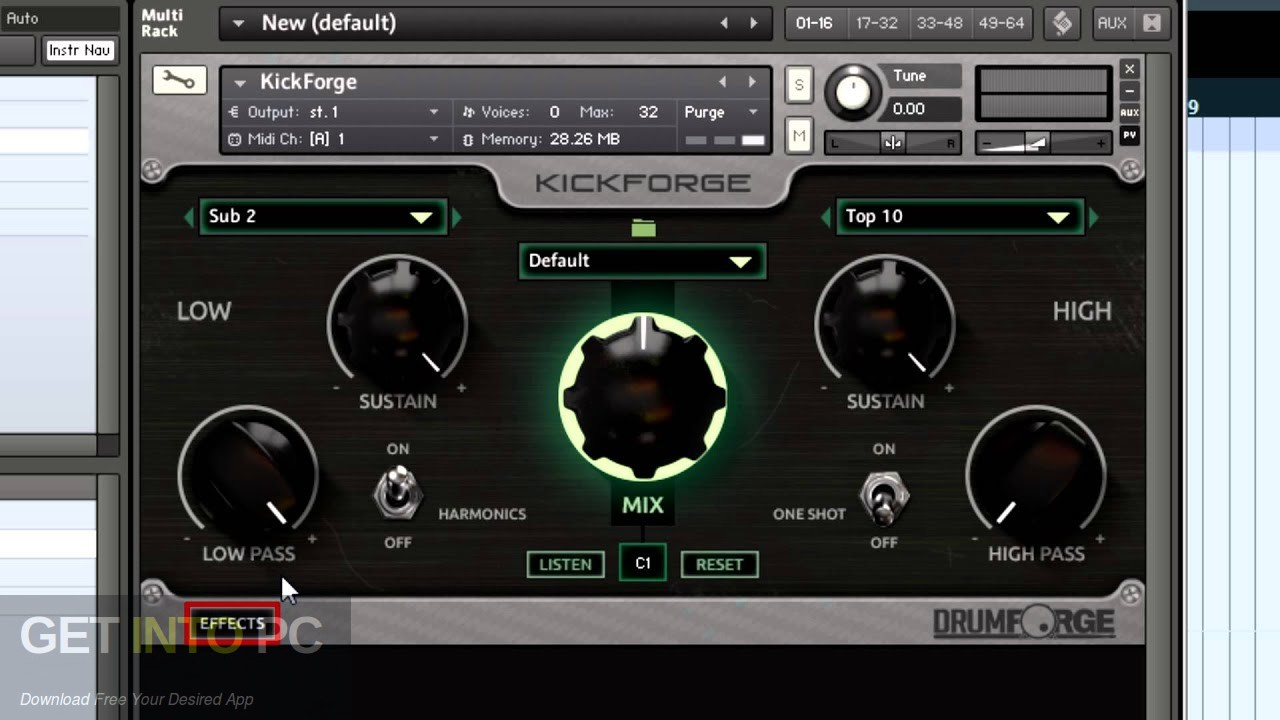 Drumforge Kickforge (KONTAKT) Latest Version Download