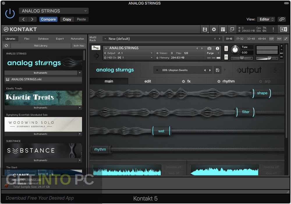 Output - Neon Strings Pack for Analog Stings Expansion Offline Installer Download