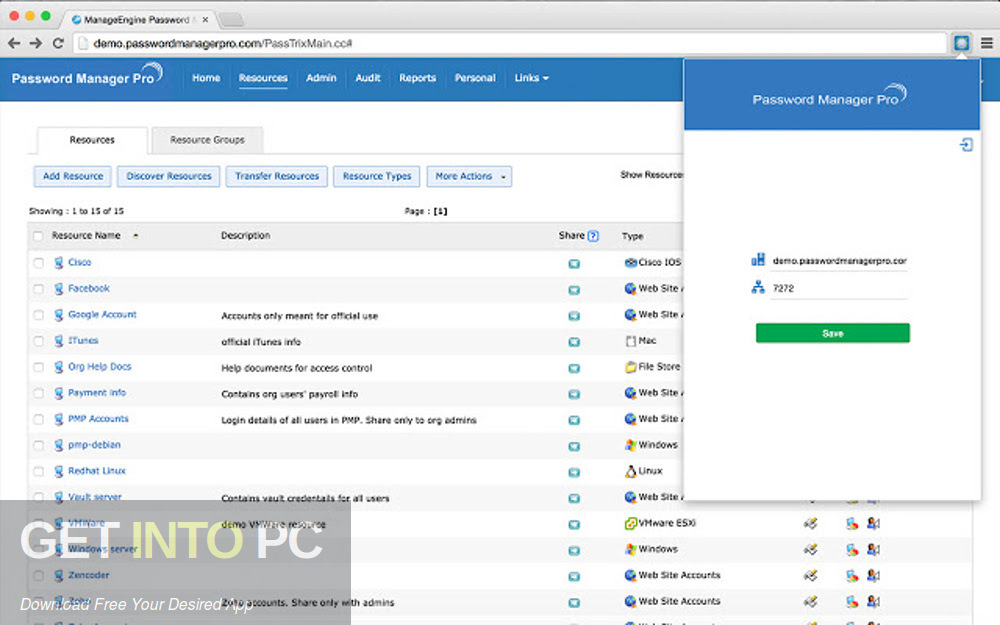 ManageEngine Password Manager Pro Latest Version Download-GetintoPC.com