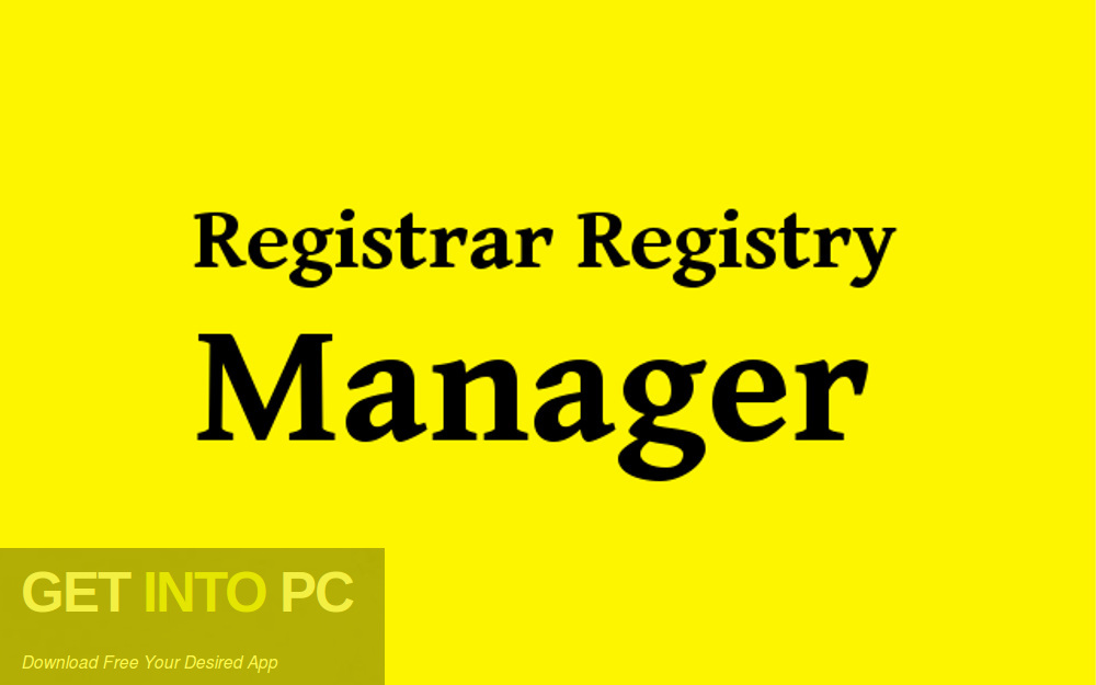 Registrar Registry Manager Free Download-GetintoPC.com