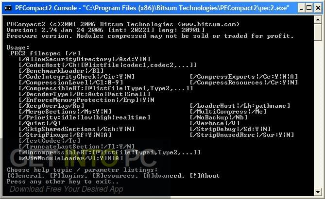 Bitsum PECompact Direct Link Download