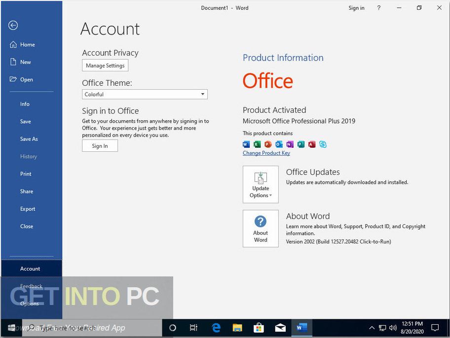 Windows 10 x64 Pro incl Office 2019 Updated Aug 2020 Screenshot 3-GetintoPC.com