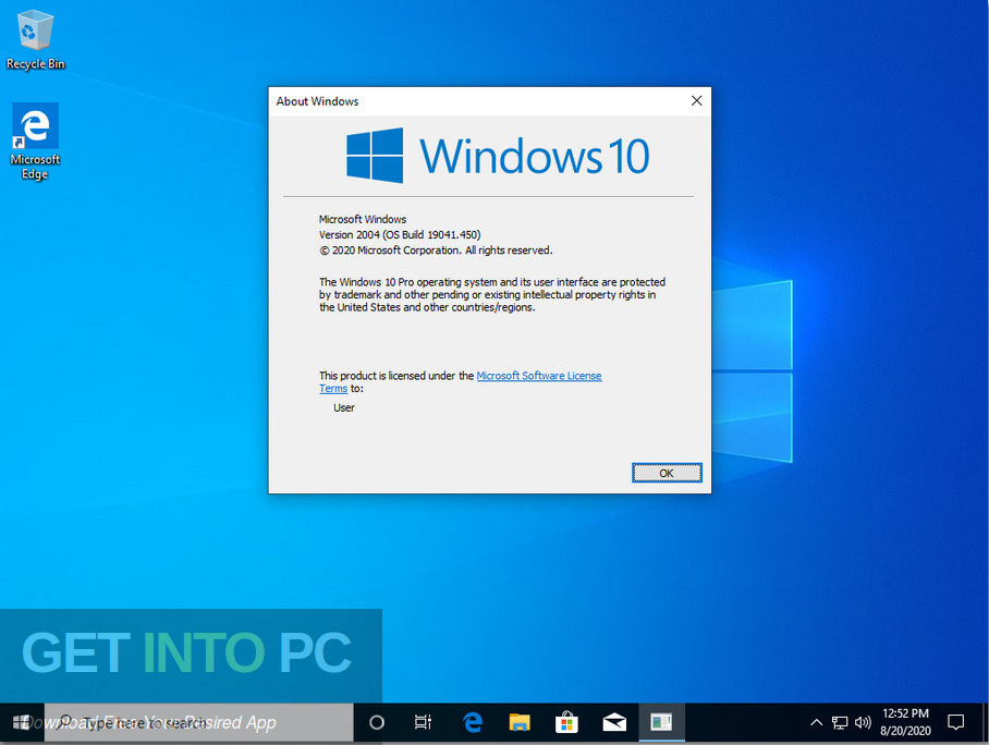 Windows 10 x64 Pro incl Office 2019 Updated Aug 2020 Screenshot 5-GetintoPC.com
