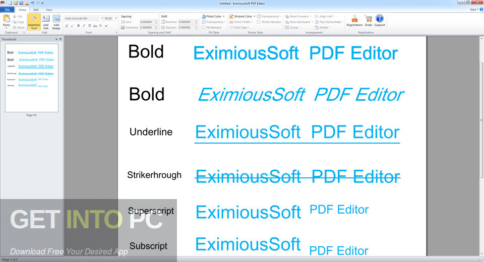 EximiousSoft PDF Editor Offline Installer Download