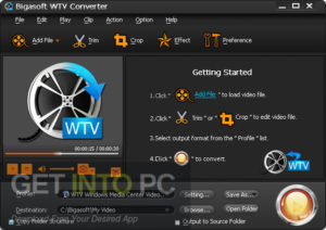 Bigasoft WTV Total Video & Audio Converter Direct Link Download GetIntoPC.com