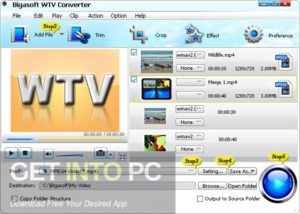 Bigasoft WTV & Total Video & Audio Converter Offline Installer Download GetIntoPC.com