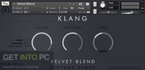Cinematique Instruments KLANG VINTAGE SYNTH Velvet Blend (KONTAKT) Direct Link Download GetIntoPC.com