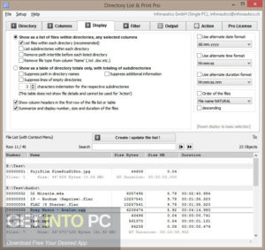Directory List and Print Pro 2020 Offline Installer Download GetIntoPC.com