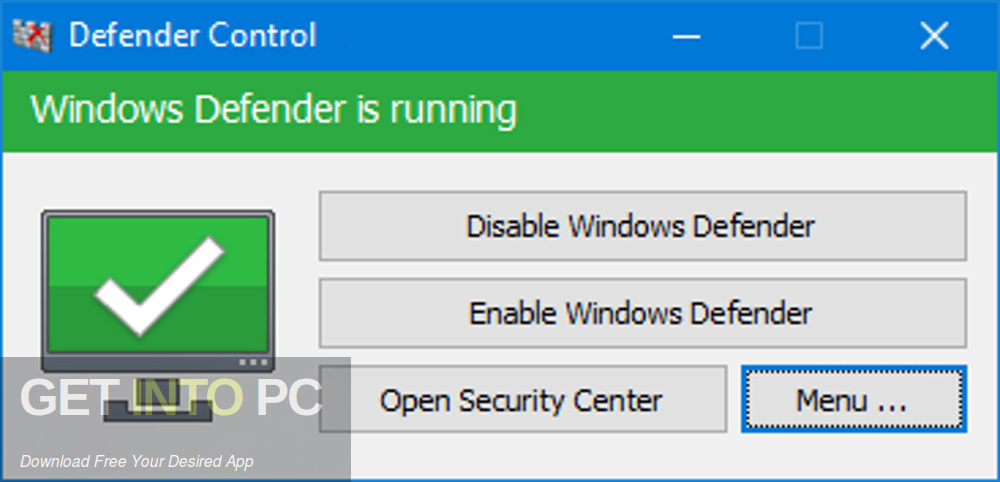 Windows Defender Easy Disabler Enabler Tool Script Direct Link Download-GetintoPC.com