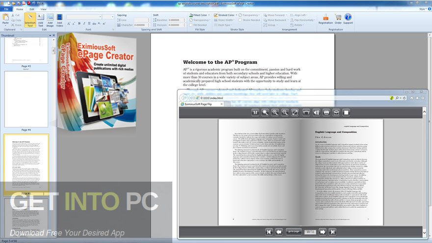 EximiousSoft ePage Creator Free Download