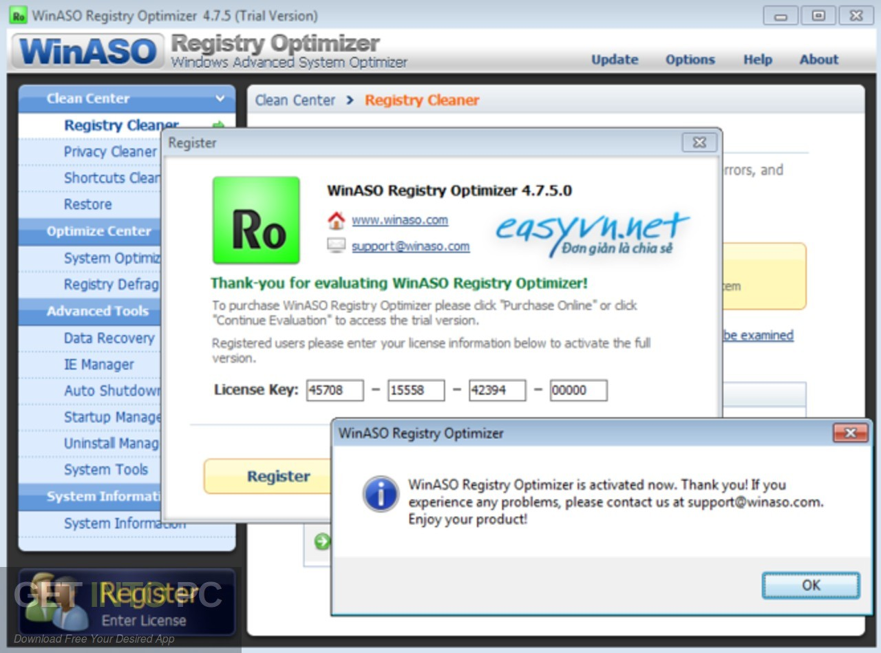WinASO Registry Optimizer Offline Installer Download