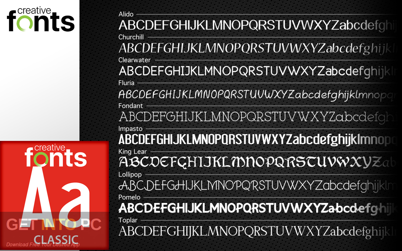 Summitsoft Creative Fonts Collection 2020 Offline Installer Download