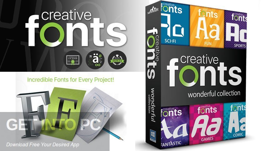 Summitsoft Creative Fonts Collection 2020 Free Download