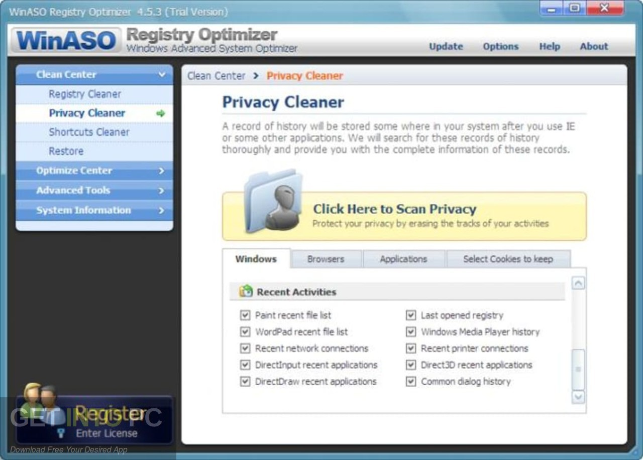 WinASO Registry Optimizer Direct Link Download