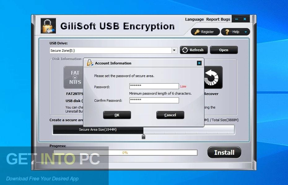 GiliSoft USB Stick Encryption Offline Installer Download